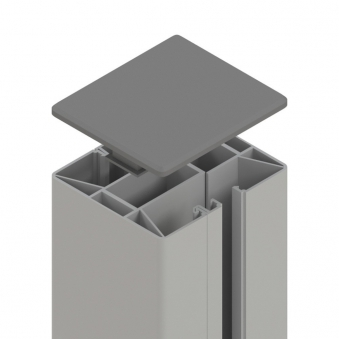 Sichtschutzzaun SYSTEM Klemmpfosten silber 7,7x7,4x105cm Bild 1