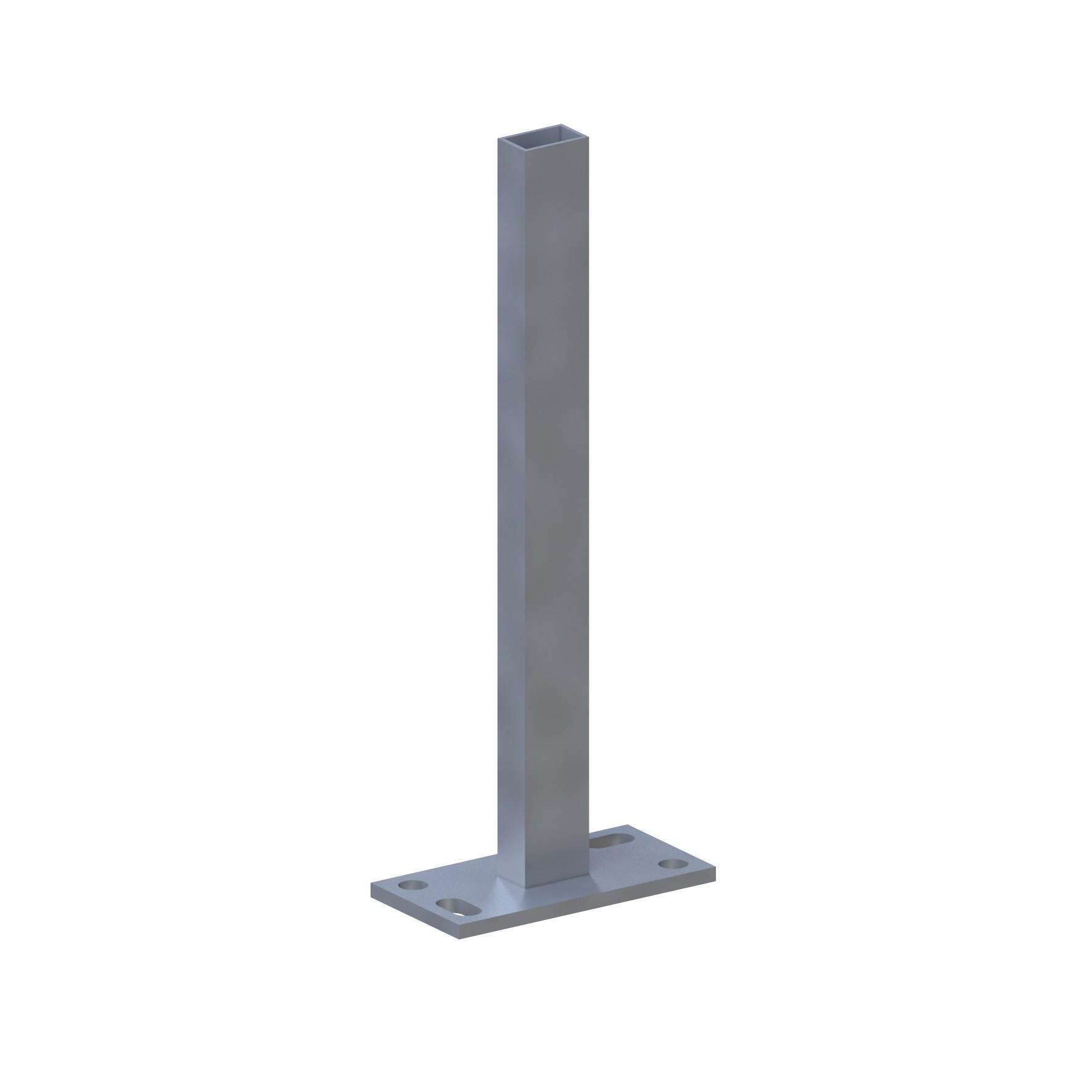 Sichtschutzzaun SYSTEM Träger für Klemmpfosten zum Aufschrauben Bild 1