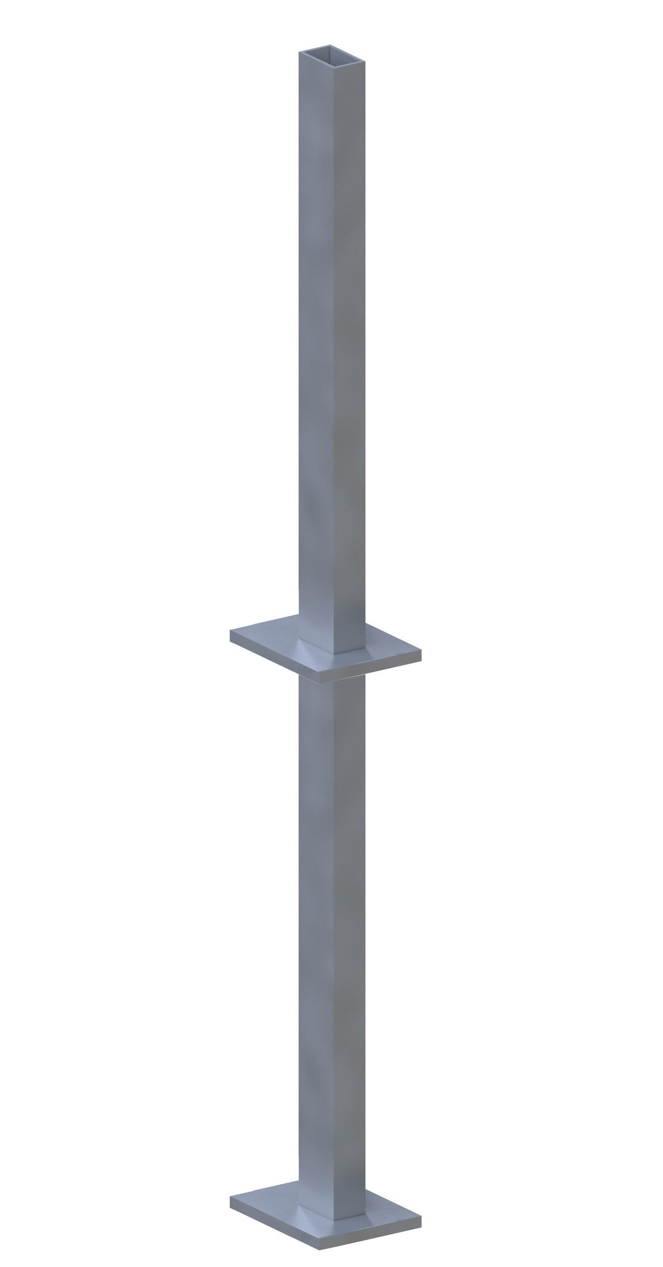 Sichtschutzzaun Träger SYSTEM für Klemmpfosten zum Erdverbau Bild 1