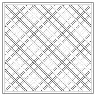 Rankzaun / Rankgitter Trennspalier 10x10 kdi gerade 180x180cm Bild 1
