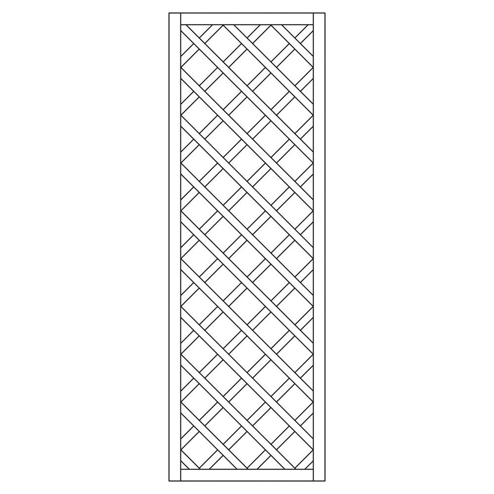 Rankzaun / Rankgitter Trennspalier 10x10 kdi gerade 60x180cm Bild 1