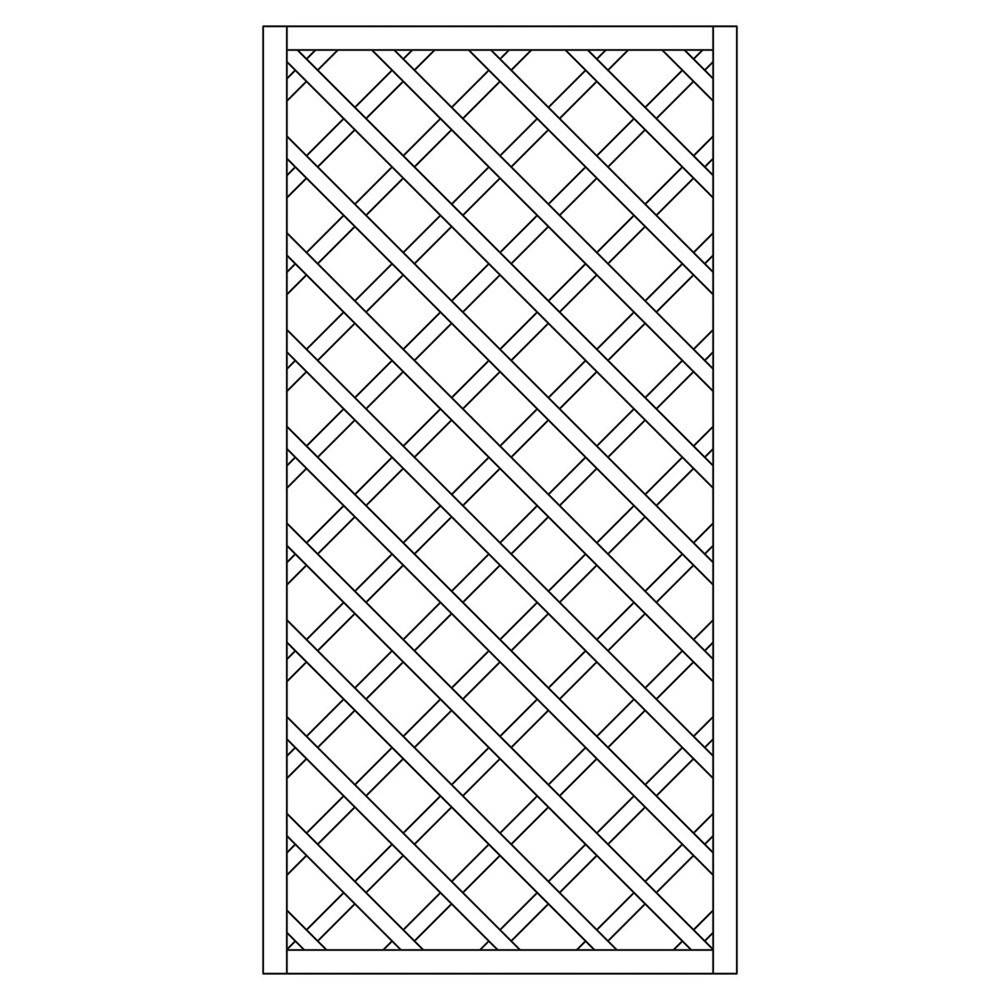 Rankzaun / Rankgitter Trennspalier 10x10 kdi gerade 90x180cm Bild 1