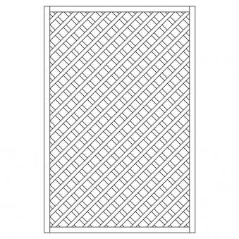 Rankzaun / Rankgitter Trennspalier 6x6 gerade 120x180cm Bild 1