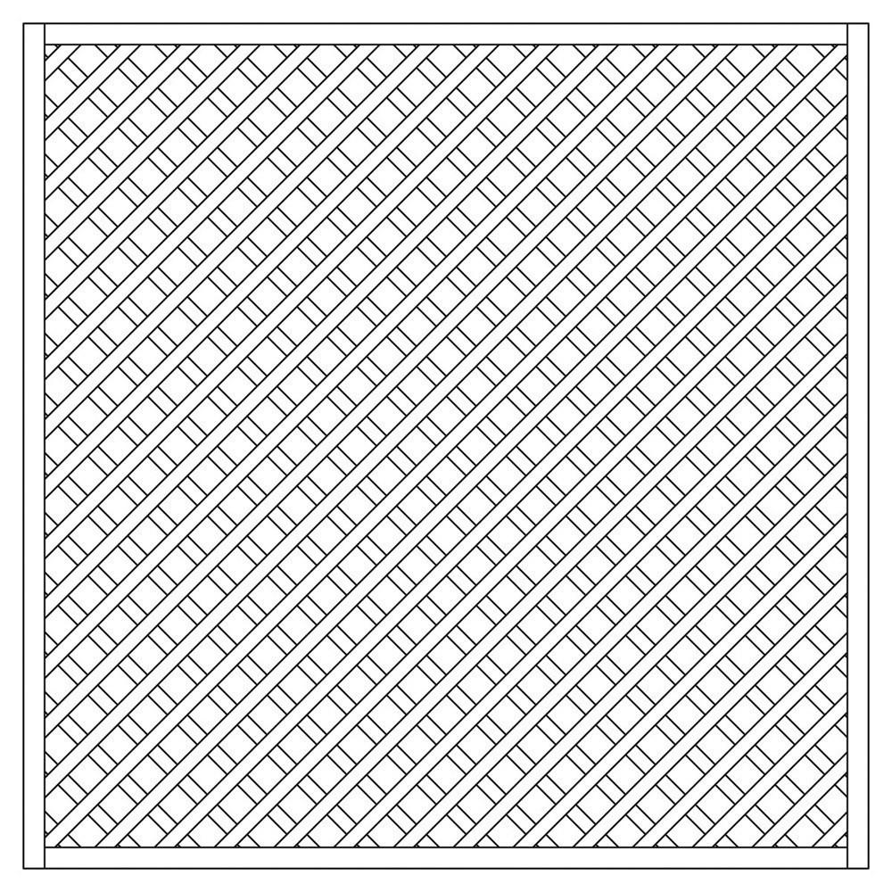 Rankzaun / Rankgitter Trennspalier 6x6 gerade 180x180cm Bild 1