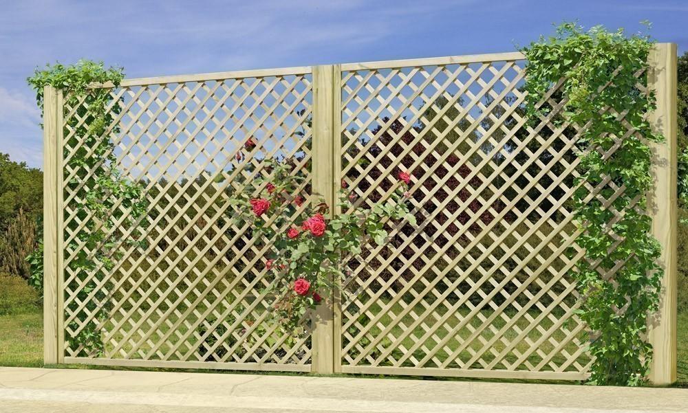 Rankzaun / Rankgitter Trennspalier 6x6 gerade 180x180cm Bild 2