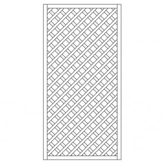 Rankzaun / Rankgitter Trennspalier 6x6 gerade 90x180cm Bild 1