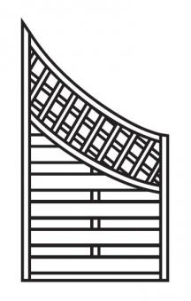 Sichtschutz Zaun / Dichtzaun Mailand Schrägelement Bogen 90x160/90cm Bild 1
