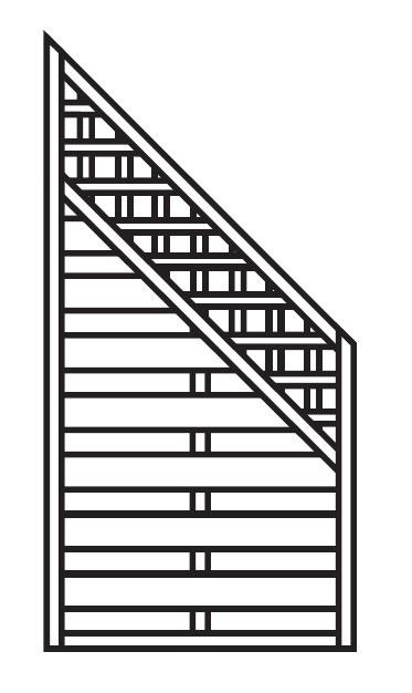 Sichtschutz Zaun / Dichtzaun Mailand Schrägelement gerade 90x180/90cm Bild 1