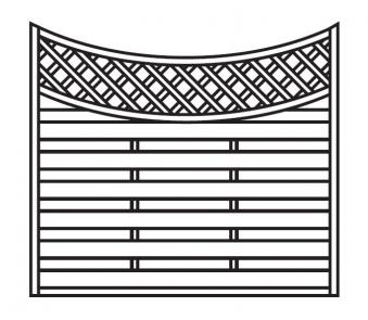 Sichtschutz Zaun / Dichtzaun Mailand Zaunelement Bogen 180x140/160cm Bild 1