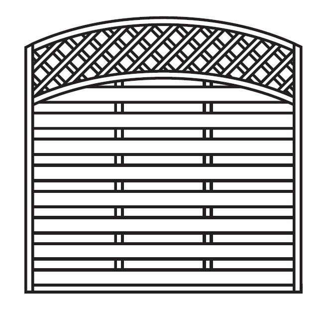 Sichtschutz Zaun / Dichtzaun Mailand Zaunelement Bogen 180x180/160cm Bild 3
