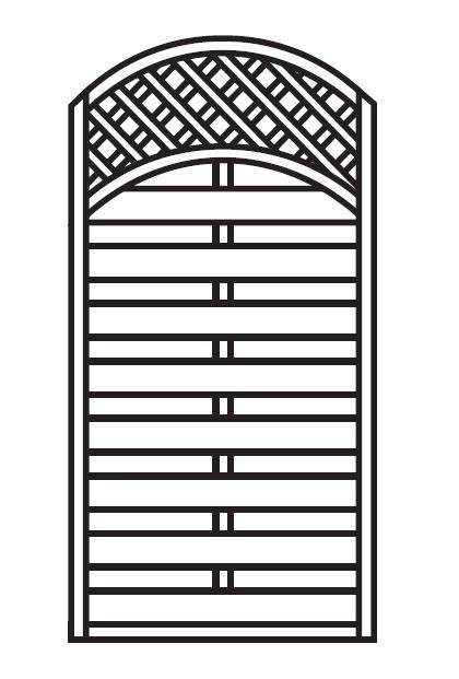 Sichtschutz Zaun / Dichtzaun Mailand Zaunelement Bogen 90x180/160cm Bild 1