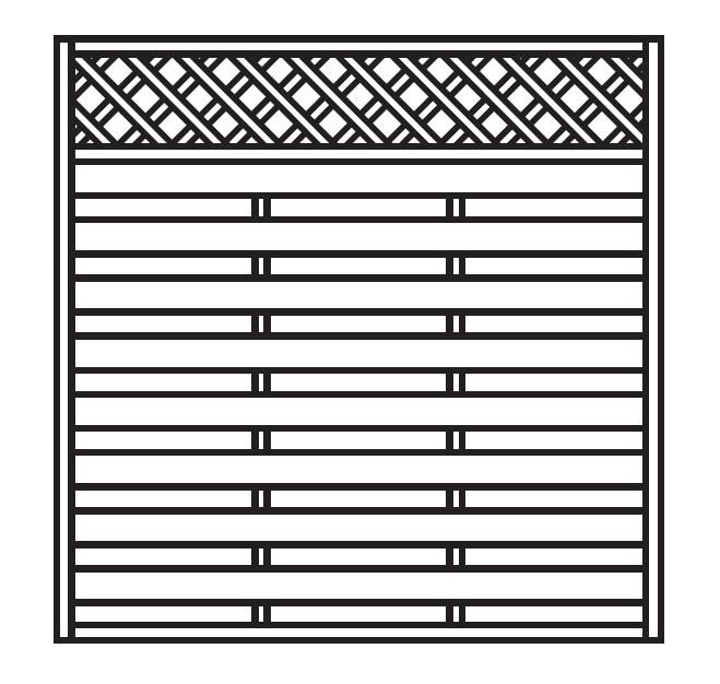 Sichtschutz Zaun / Dichtzaun Mailand Zaunelement gerade 180x180cm Bild 1