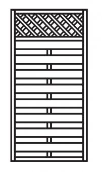 Sichtschutz Zaun / Dichtzaun Mailand Zaunelement gerade 90x180cm