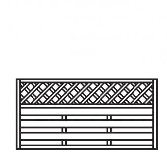 Sichtschutz Zaun / Dichtzaun Mailand Zaunelement gerade 180x90cm Bild 1