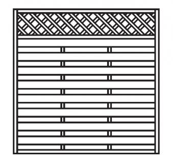 Sichtschutz Zaun / Dichtzaun Mailand Zaunelement gerade 180x180cm