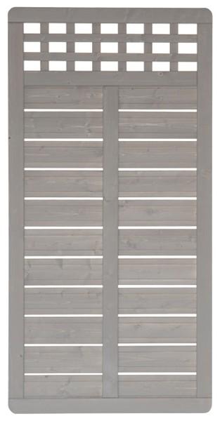 Sichtschutzzaun Holz Lasiert ~   Grundelement Fichte grau lasiert 90 x 180 cm  bei edingershops de