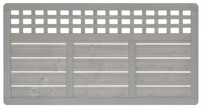 sichtschutz zaun elsass zaunelement fichte grau lasiert 180 x 95 cm bei. Black Bedroom Furniture Sets. Home Design Ideas