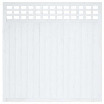 Sichtschutz / Zaun Fehmarn Grundelement Fichte weiß 180 x 180 cm Bild 2