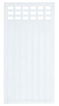 Sichtschutz / Zaun Fehmarn Grundelement Fichte weiß 90 x 180 cm Bild 2