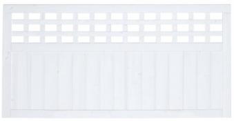 Sichtschutz / Zaun Fehmarn Zaunelement Fichte weiß 180 x 90 cm Bild 2
