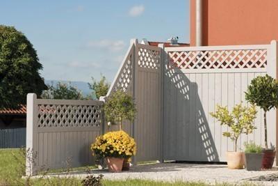 Sichtschutz / Zaun Husum Grundelement Fichte grau lasiert 180x180 cm ...