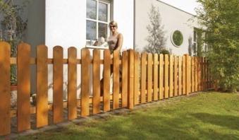 Sichtschutz / Zaun Mailand Zaunelement Lärche kirschbaum geö. 180x80cm Bild 1