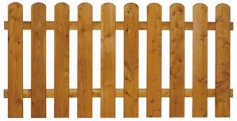 Sichtschutz / Zaun Mailand Zaunelement Lärche kirschbaum geö. 180x80cm Bild 2