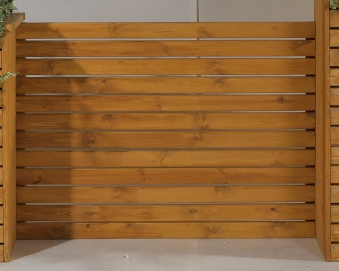 Sichtschutz Baden für Pflanzkubus Baden 130x95cm honig Bild 1