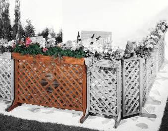 Zaun Sichtschutz / Blumenkasten mit Spalier Orth 144x105cm