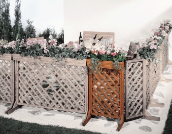 Zaun Sichtschutz / Blumenkasten mit Spalier Orth 62x105cm