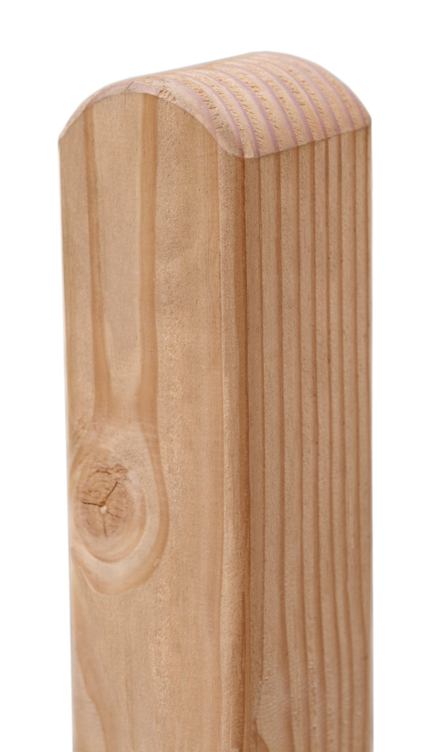 Zaunpfosten Pfosten Rundkopf Lärche natur 9x9cm L 100cm bei