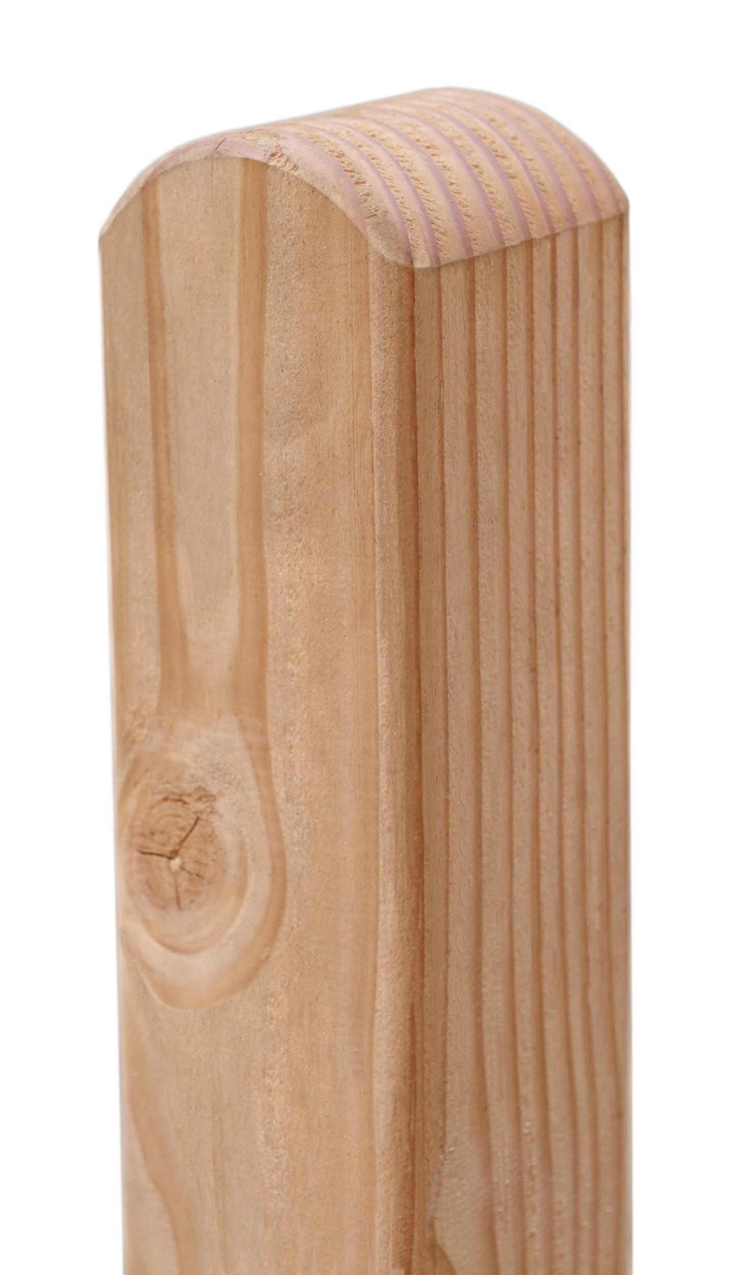 Zaunpfosten pfosten rundkopf l rche natur 9x9cm l 190cm for Sichtschutzzaun sina