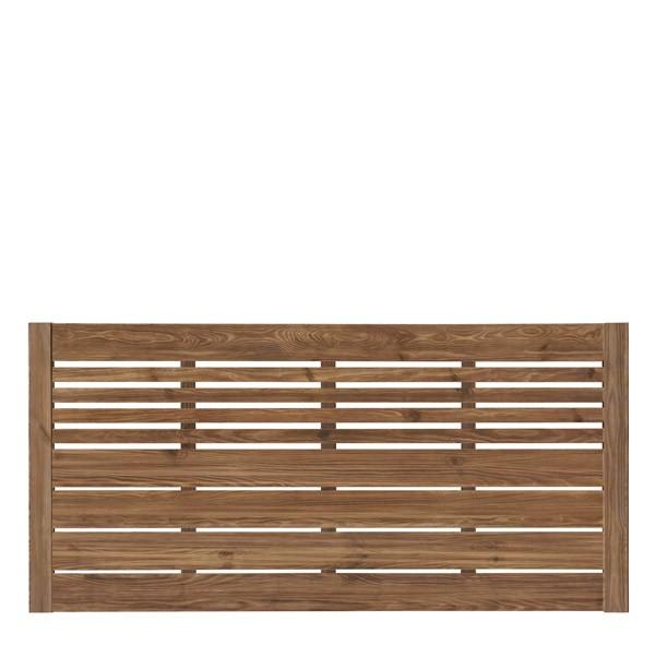 Sichtschutzzaun / Zaunelement Sina mit Gitter kdi braun 180x90cm Bild 1