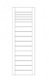Sichtschutzzaun / Zaunelement Sina mit Gitter kdi braun 60x180cm Bild 1