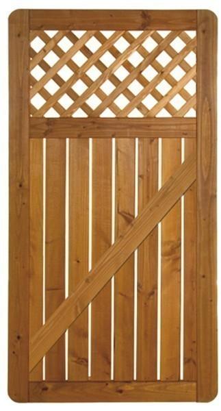 sichtschutz zaun sylt zaunt r douglasie ge lt 90 x 180 cm bei. Black Bedroom Furniture Sets. Home Design Ideas