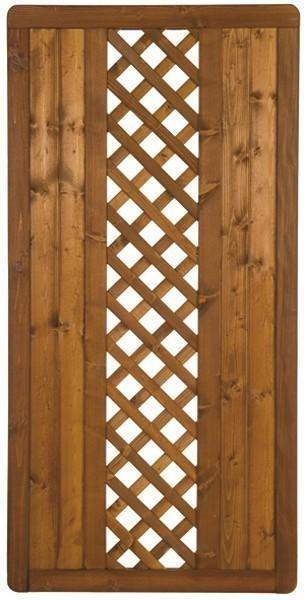 Sichtschutzzaun Holz Lasiert ~   Turino Grundelement Fichte lasiert 90 x 180 cm  bei edingershops de