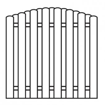Sichtschutzzaun / Bohlenzaun-Element Bogen Holz kdi 180x180cm Bild 1