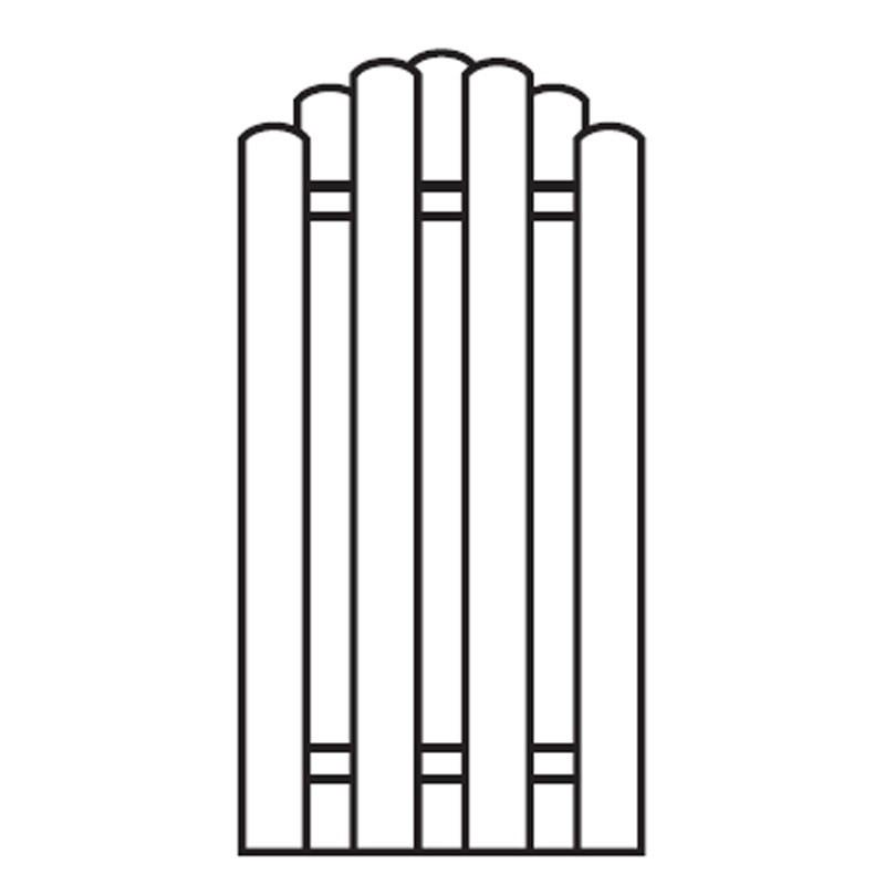 Sichtschutzzaun / Bohlenzaun-Element Bogen Holz kdi  90x180/160cm Bild 1