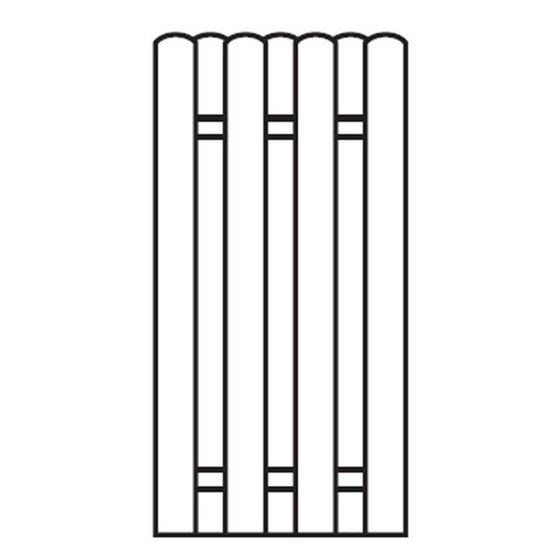 Sichtschutzzaun / Bohlenzaun-Element Holz kdi 90x180cm Bild 1