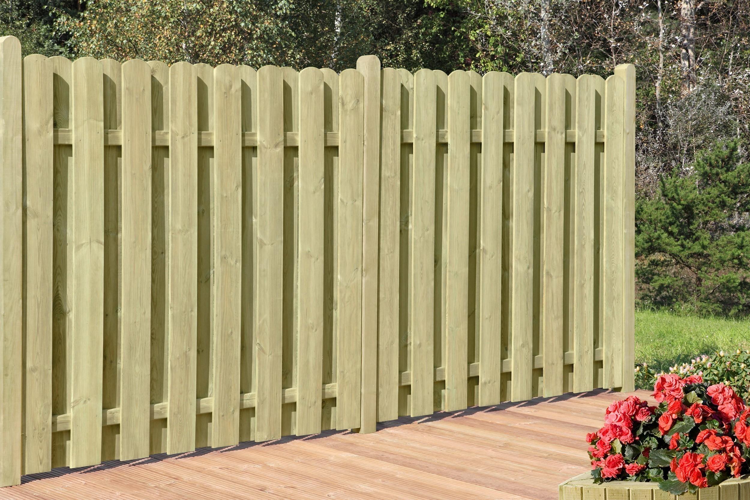 Sichtschutzzaun Bohlenzaun Element Holz Kdi 90x180cm Bei