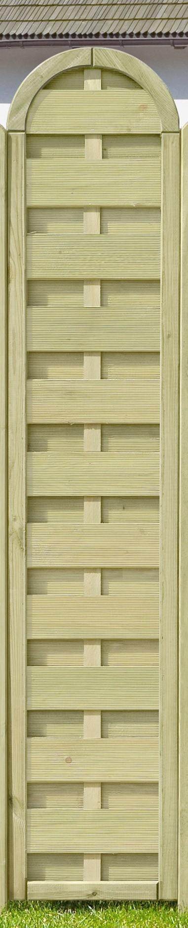 Sichtschutzzaun / Dichtzaun kdi Rundelement 40x180/200cm Bild 1
