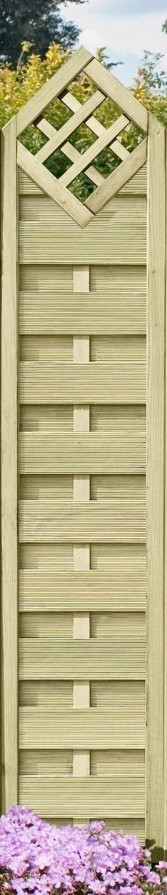 Sichtschutzzaun / Dichtzaun kdi Spitzelement mit Karo 40x180/200cm Bild 1