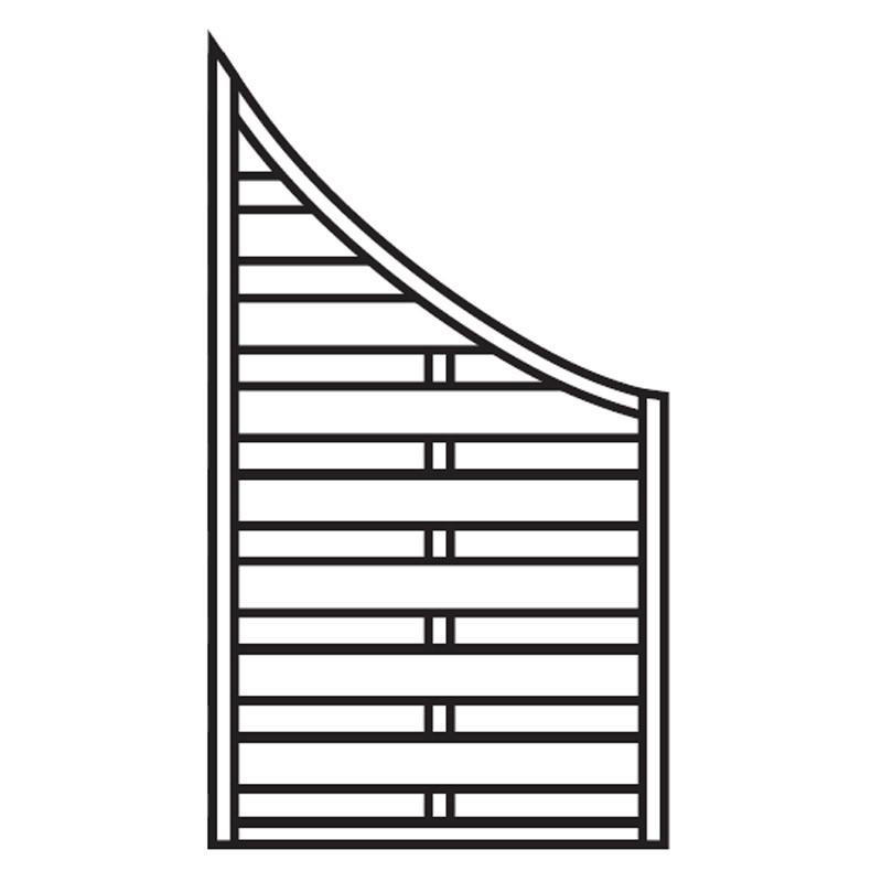 Sichtschutzzaun / Schrägelement Dichtzaun Bogen kdi 90x160/90cm Bild 1