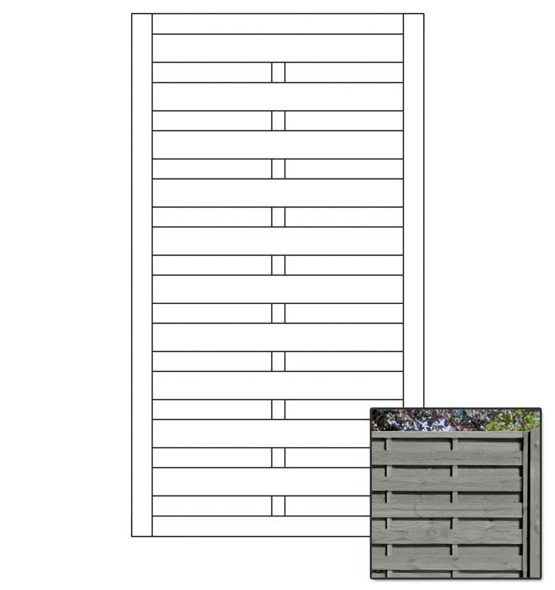 Sichtschutzzaun / Tor-Element Dichtzaun Pforte KI grau 100x180cm Bild 1