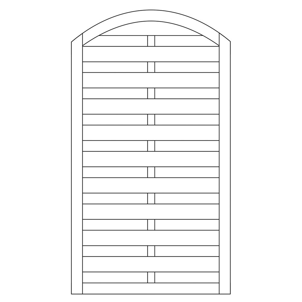 Sichtschutzzaun / Torelement  Dichtzaun Bogen Pforte kdi 100x180/160cm Bild 1