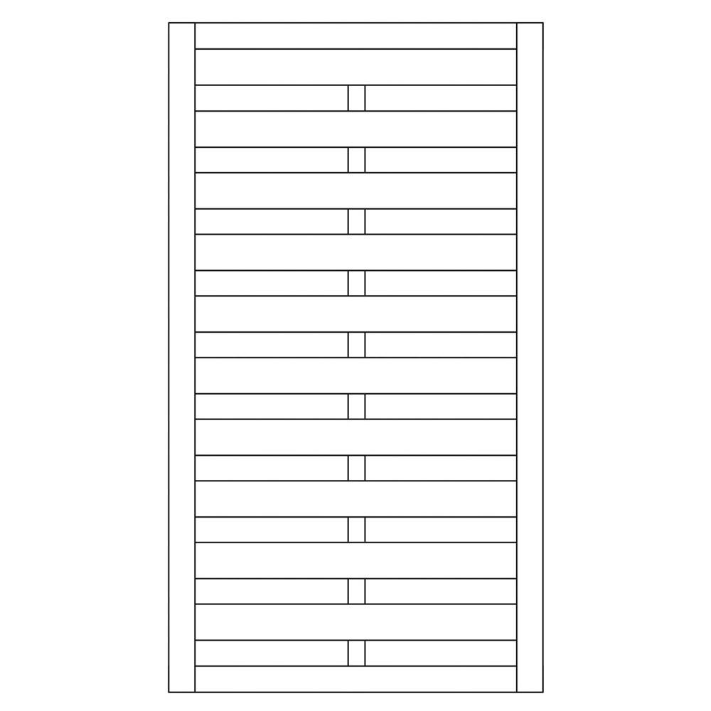 Sichtschutzzaun / Torelement Dichtzaun Pforte kdi 100x180cm Bild 1