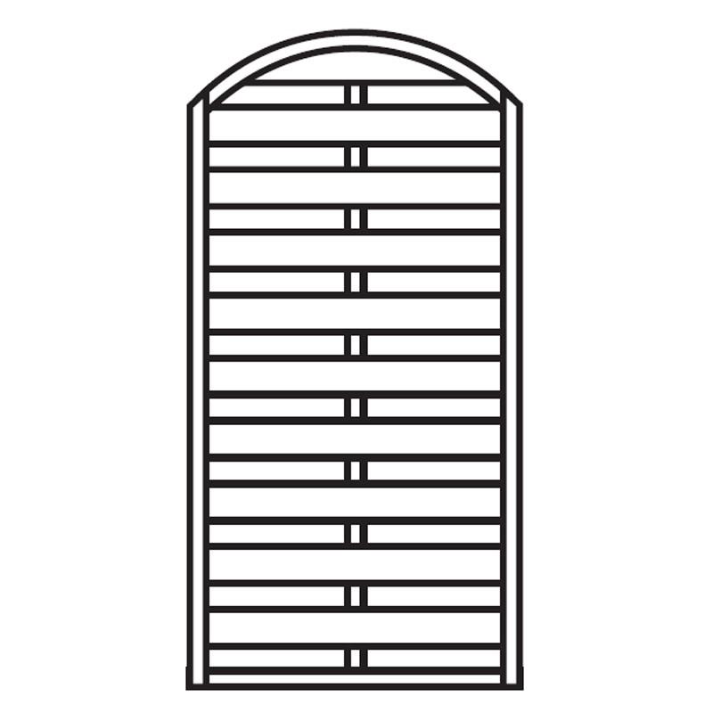 Sichtschutzzaun / Zaunelement Dichtzaun Bogen kdi 90x180/160cm Bild 1