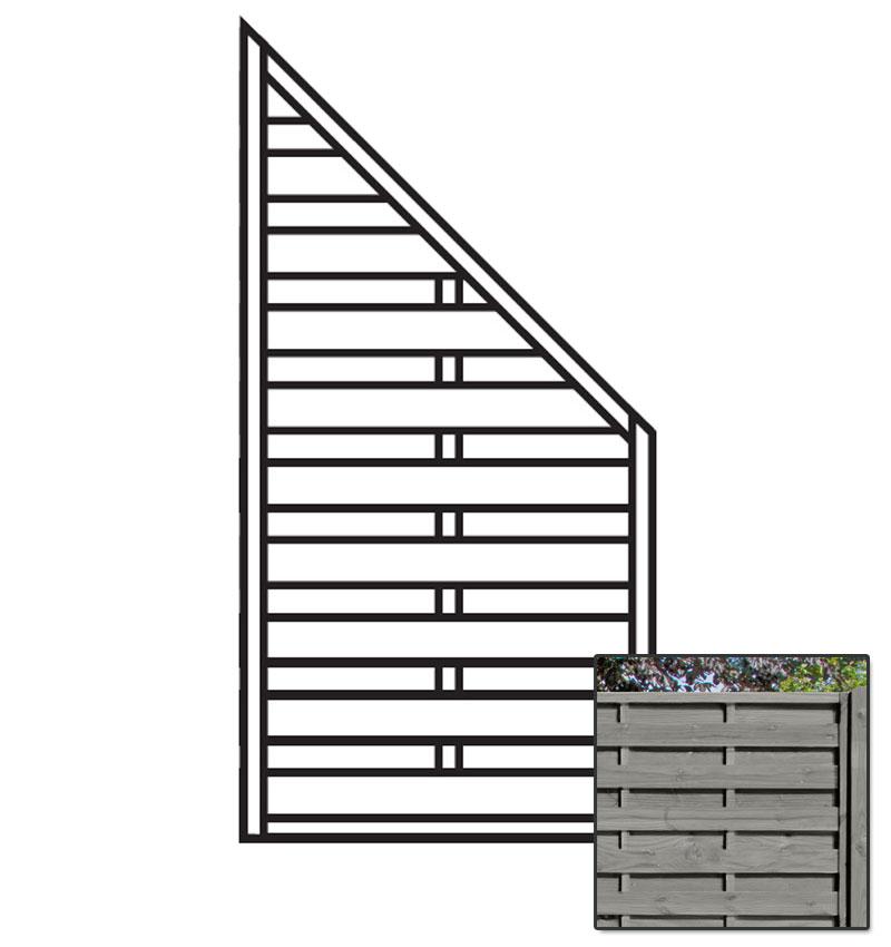 Sichtschutzzaun / Zaunelement Dichtzaun KDI grau 90x180/90cm Bild 1
