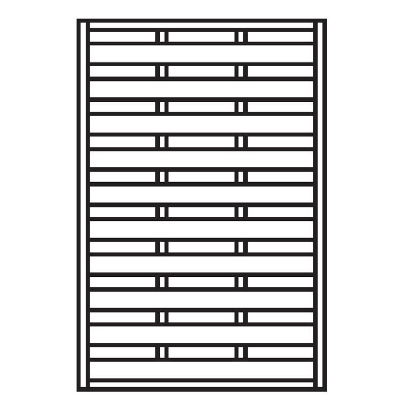 Sichtschutzzaun / Zaunelement Dichtzaun kdi 120x180cm Bild 1