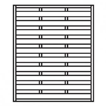 Sichtschutzzaun / Zaunelement Dichtzaun kdi 150x180cm Bild 1
